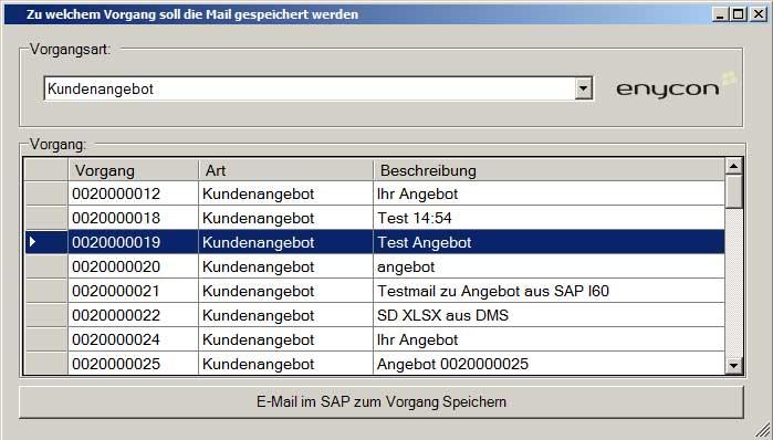Sap Mail Versenden Enycon Informatik